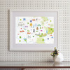 Map of Oxford Art Print (Various Sizes)