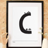 C is for Clapham Art Print (Various Sizes)