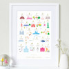 A to Z of South West London Art Print (Various Sizes)