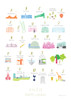 A to Z of North London Art Print (Various Sizes)