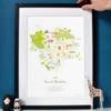Tour de Yorkshire 2019 Route Map Art Print