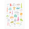 A to Z of New York City Art Print (Various Sizes)