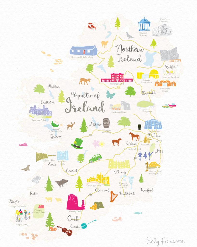 Map of Ireland Art Print (Various Sizes)