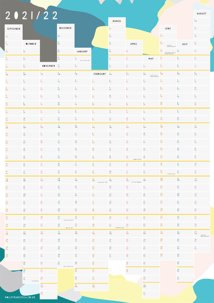 2021/22 Academic Wall Planner