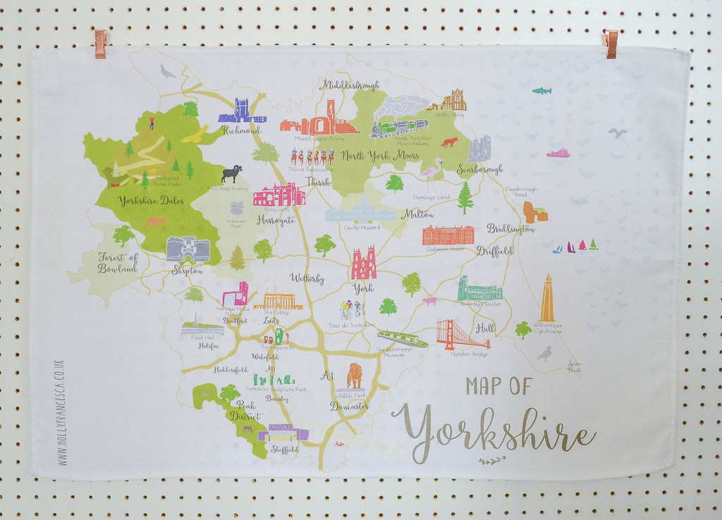 Map of Yorkshire Tea towel