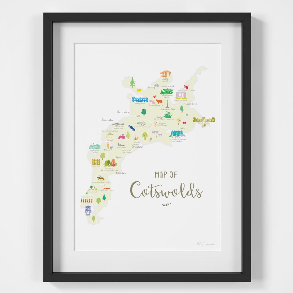 Map of the Cotswolds