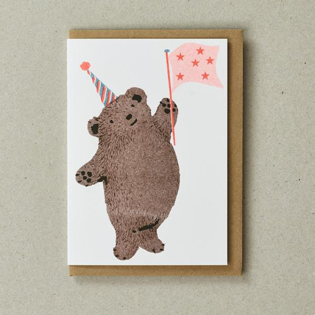 Riso Pets Card - Party Bear