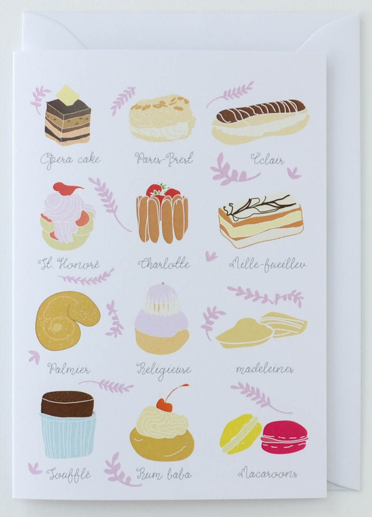 French Patisserie - Greeting Card