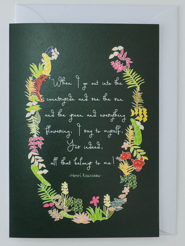 Henri Rousseau Artist's Quote - Greeting Card