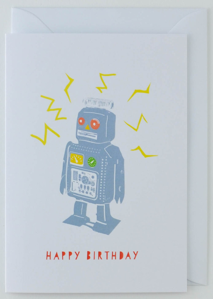 Robot - Birthday Card