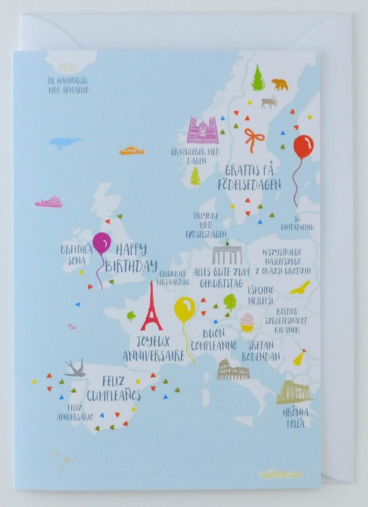 Happy Birthday Europe - Birthday Card