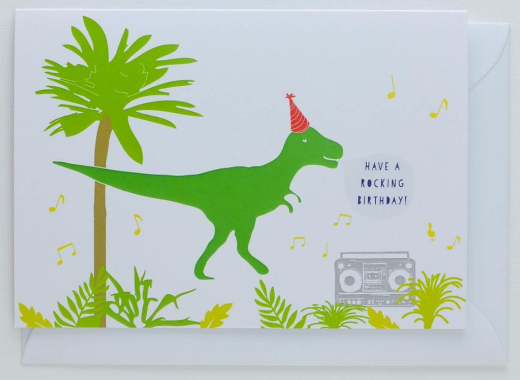 Have a Rocking Birthday - Dinosaur Birthday Card