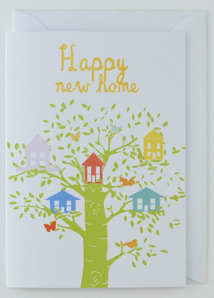 Happy New Home (Tree house) - Greeting Card