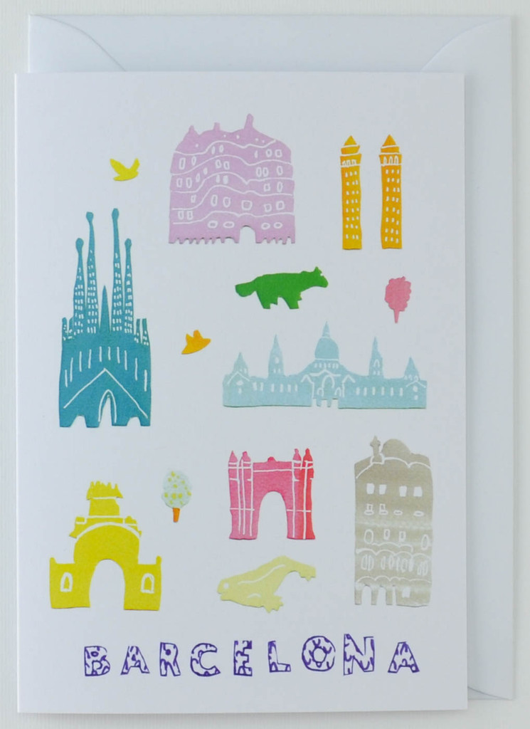 Barcelona Papercuts - Greeting Card