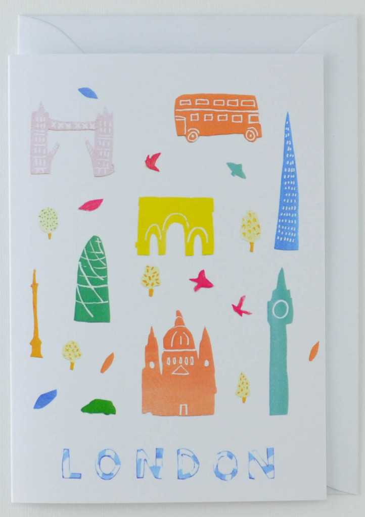 London Papercuts - Greeting Card