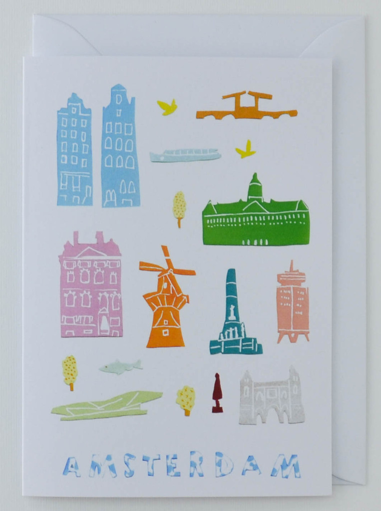 Amsterdam Papercuts - Greeting Card