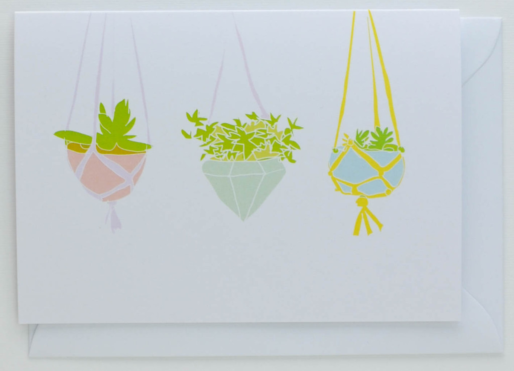 Hanging House Plants - Greeting Card