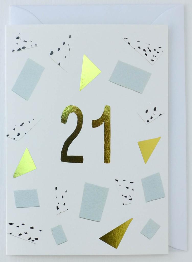 21 years old - Birthday Card