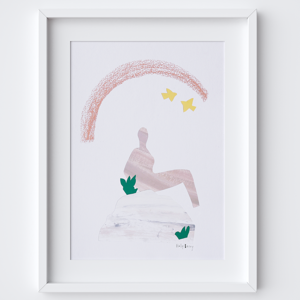 Figurative Abstract Nude Collage Print framed print