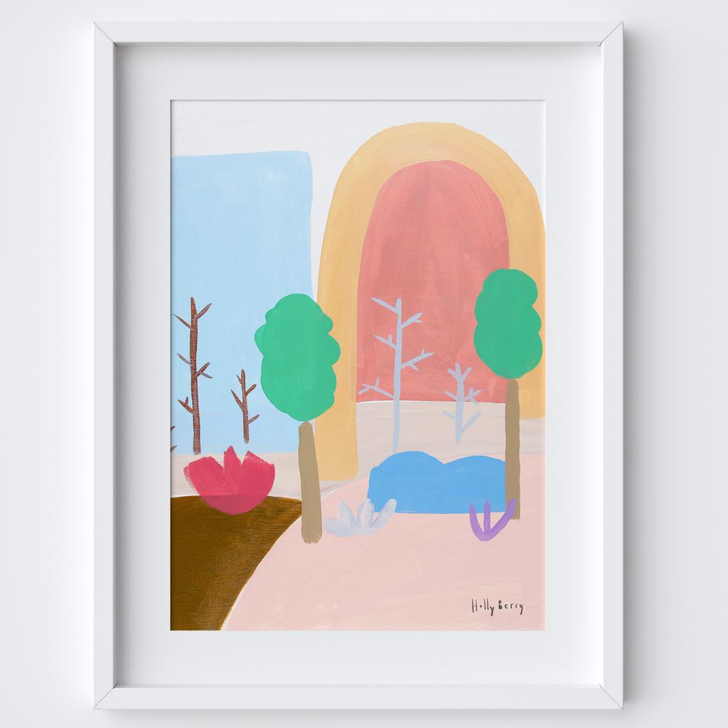 Autumn Woods Print framed print