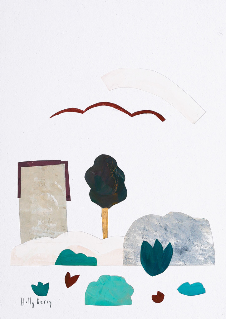 Scandi Abstract Landscape Print