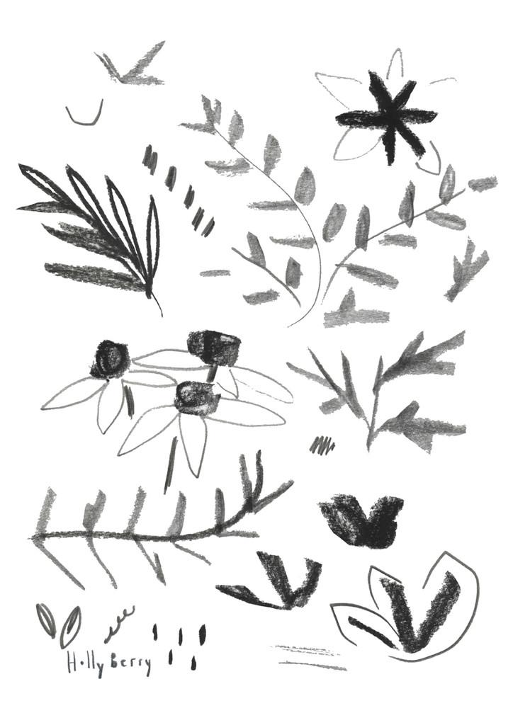 Sketching Botanical Studies Print