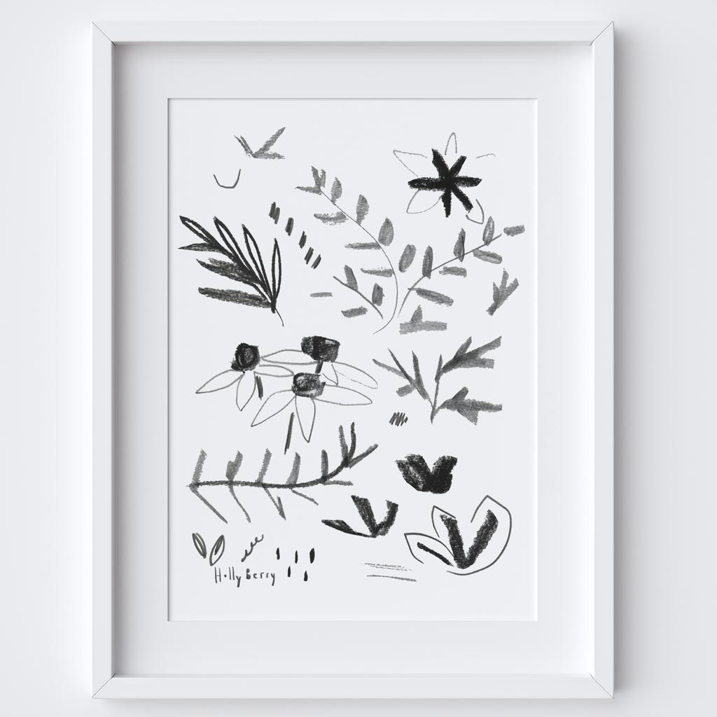 Sketching Botanical Studies Framed Print