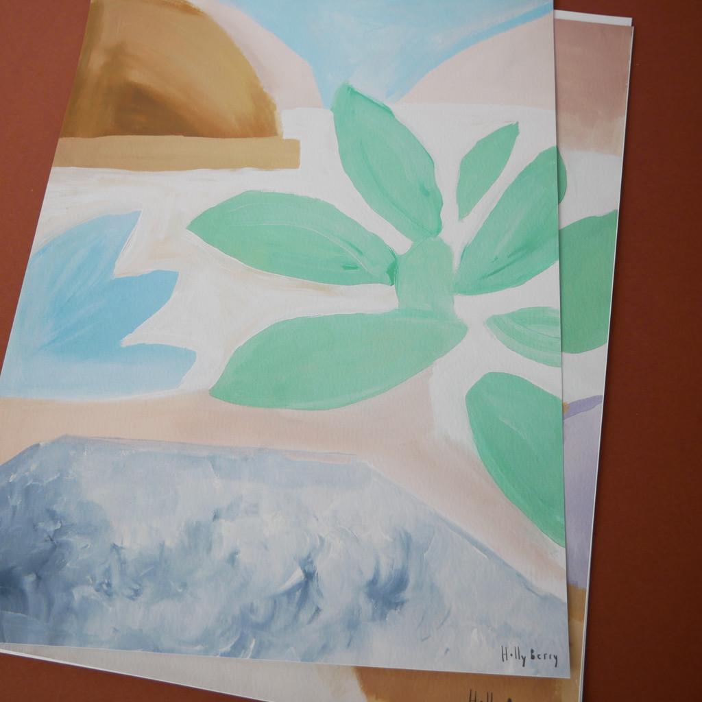 Succulent Leaves Print