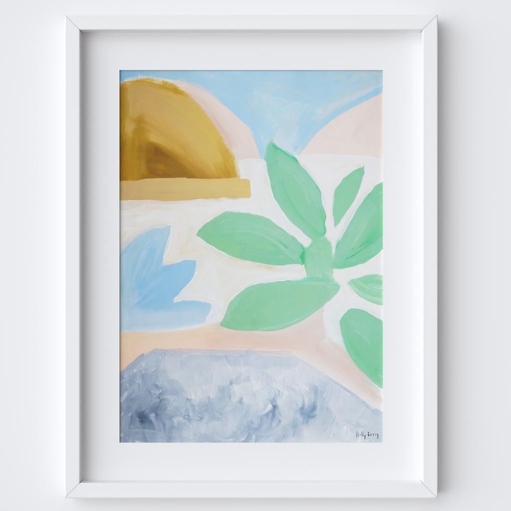 Succulent Leaves Framed Print