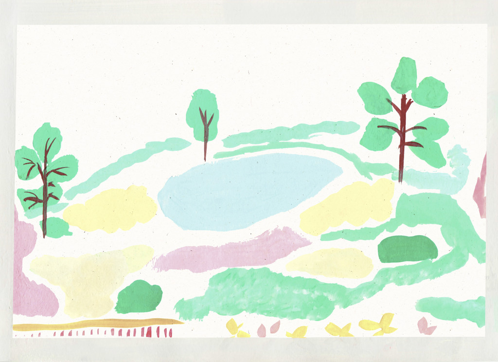 'View across Chartwell' Scene Art Print created from an original painting unframed