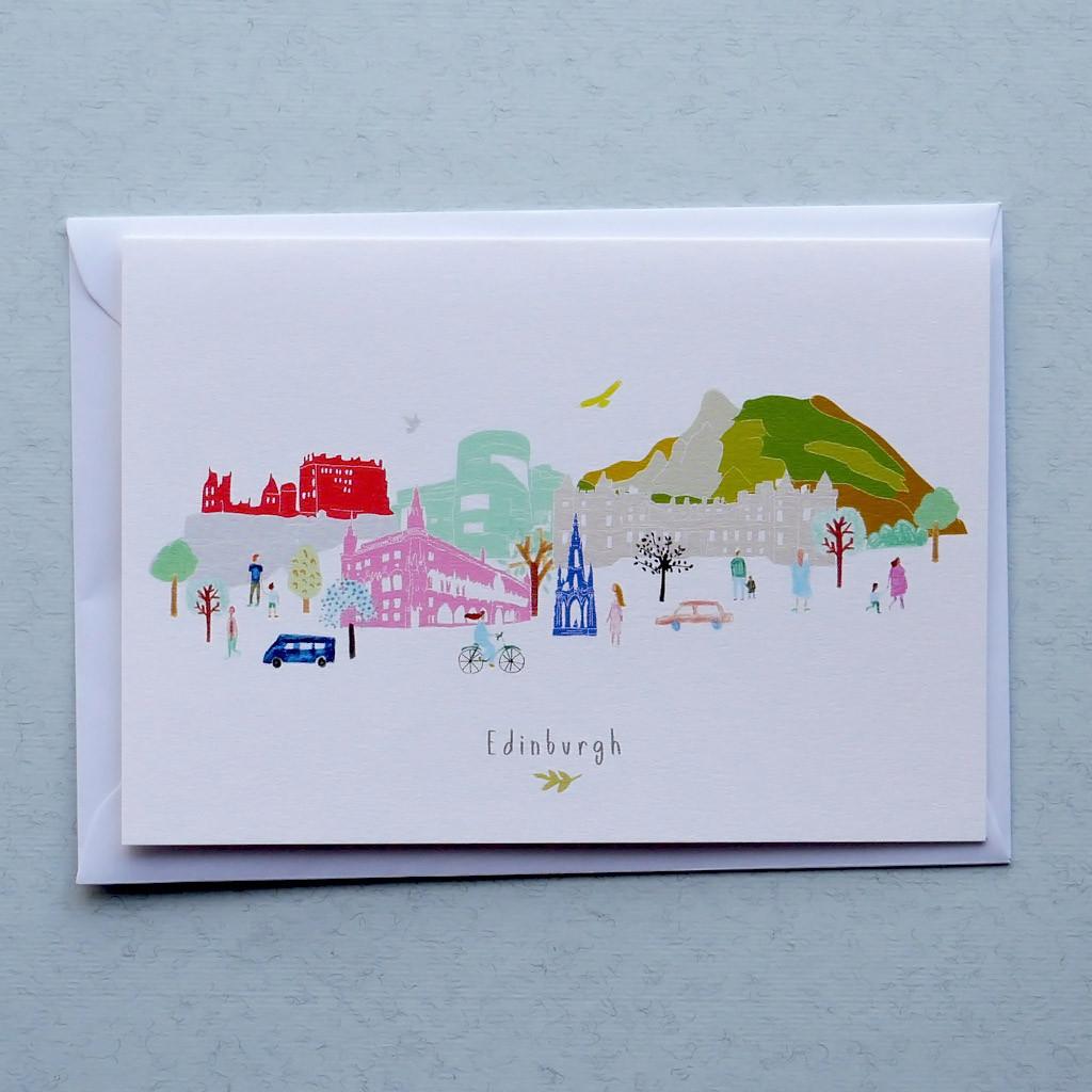 Edinburgh Skyline Card