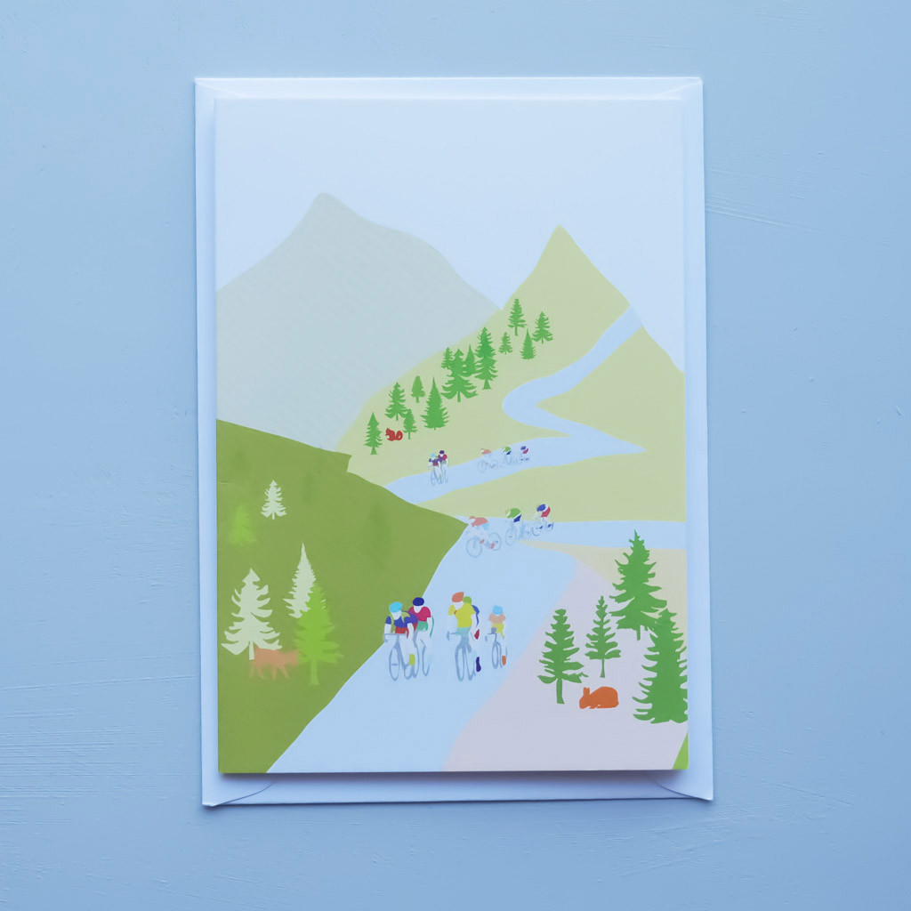 Cycling in the Hills Card