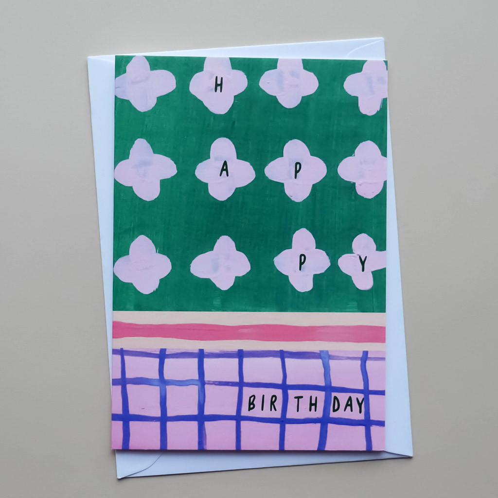 Birthday Patchwork Painted Card