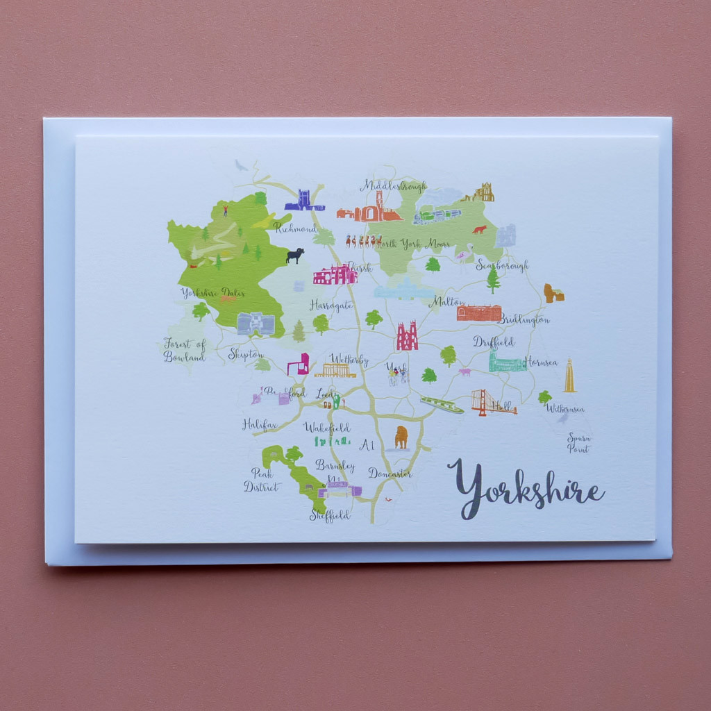 Map of Yorkshire Card