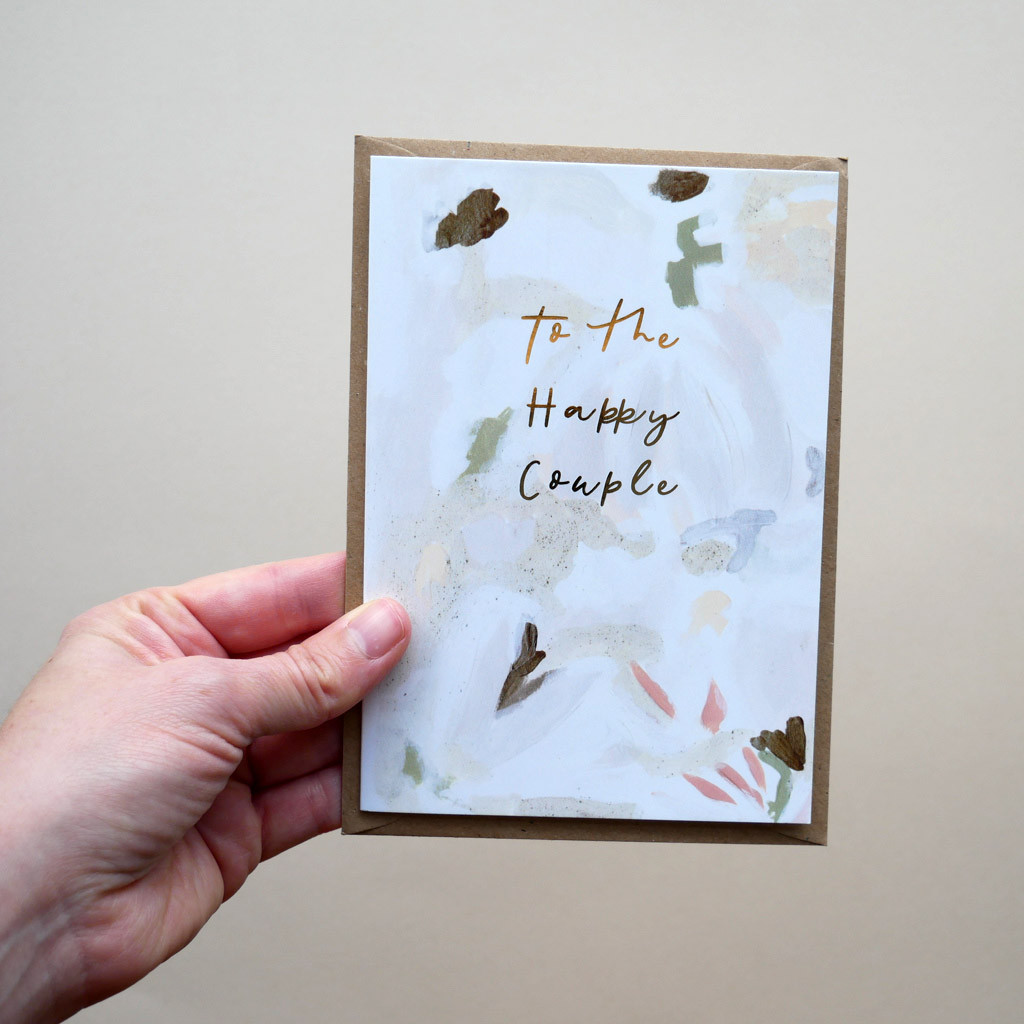 To the Happy Couple Engagement Wedding Card