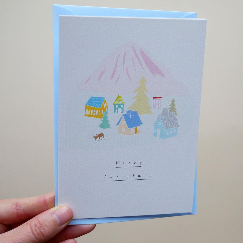 Christmas Paper Cabin Scene Card