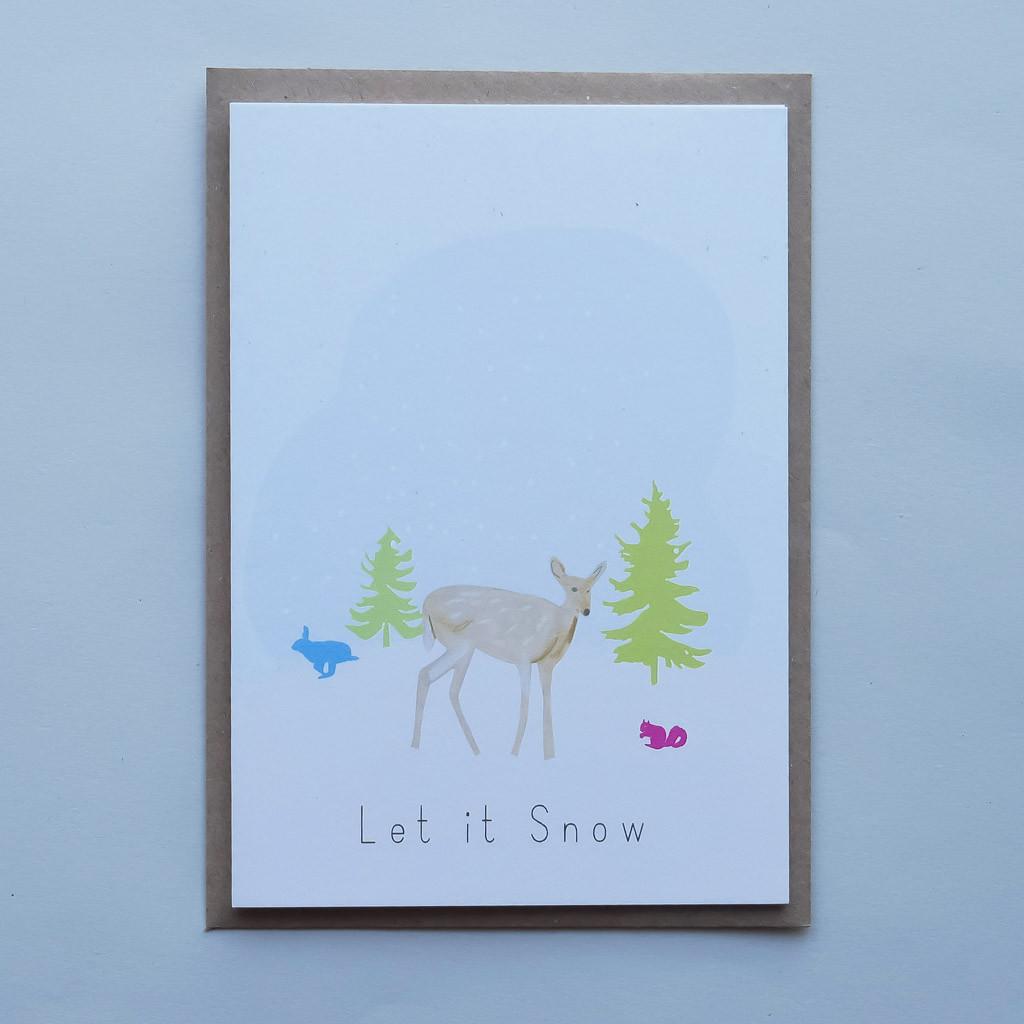 Let it Snow deer card