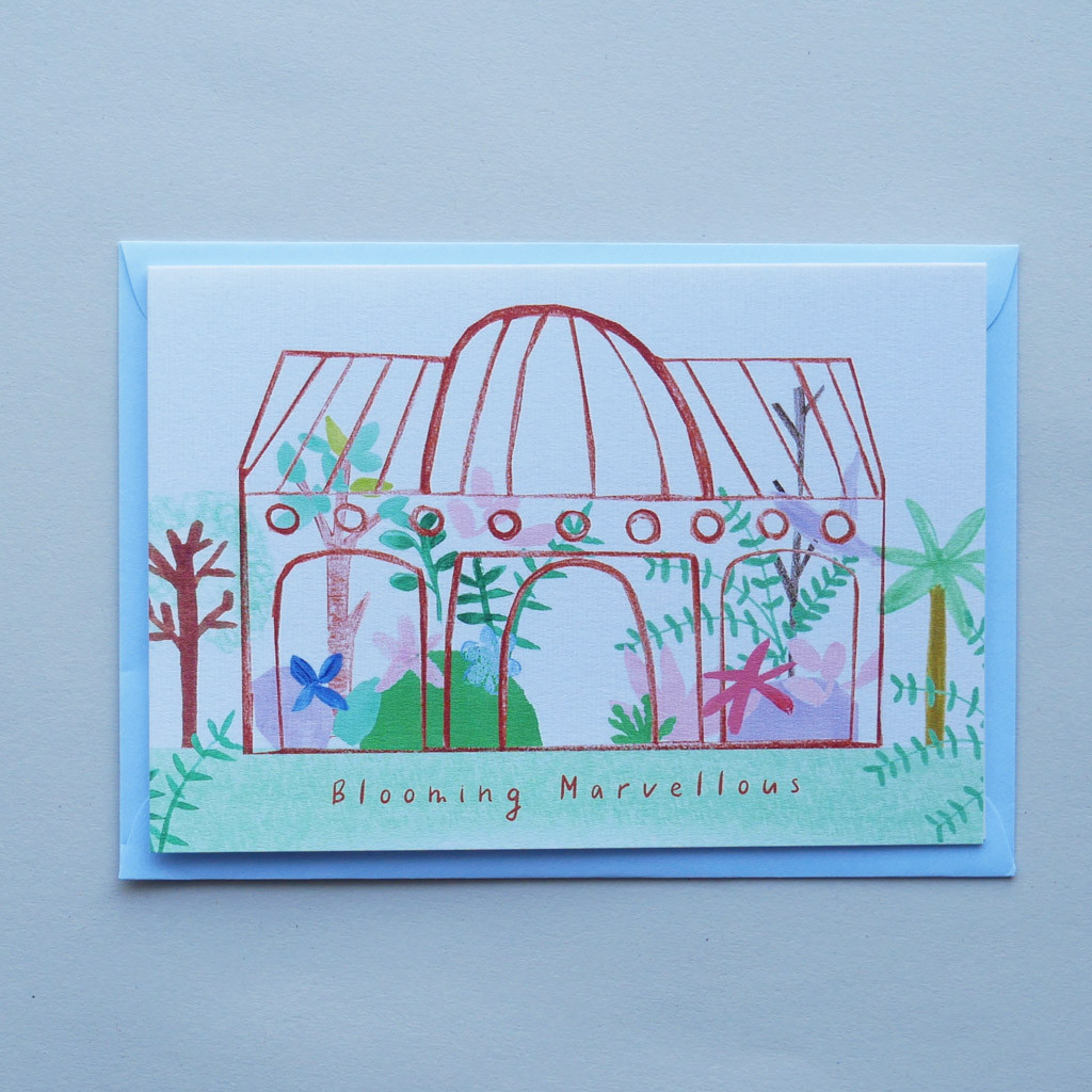 Blooming Marvellous Umber Glasshouse Card