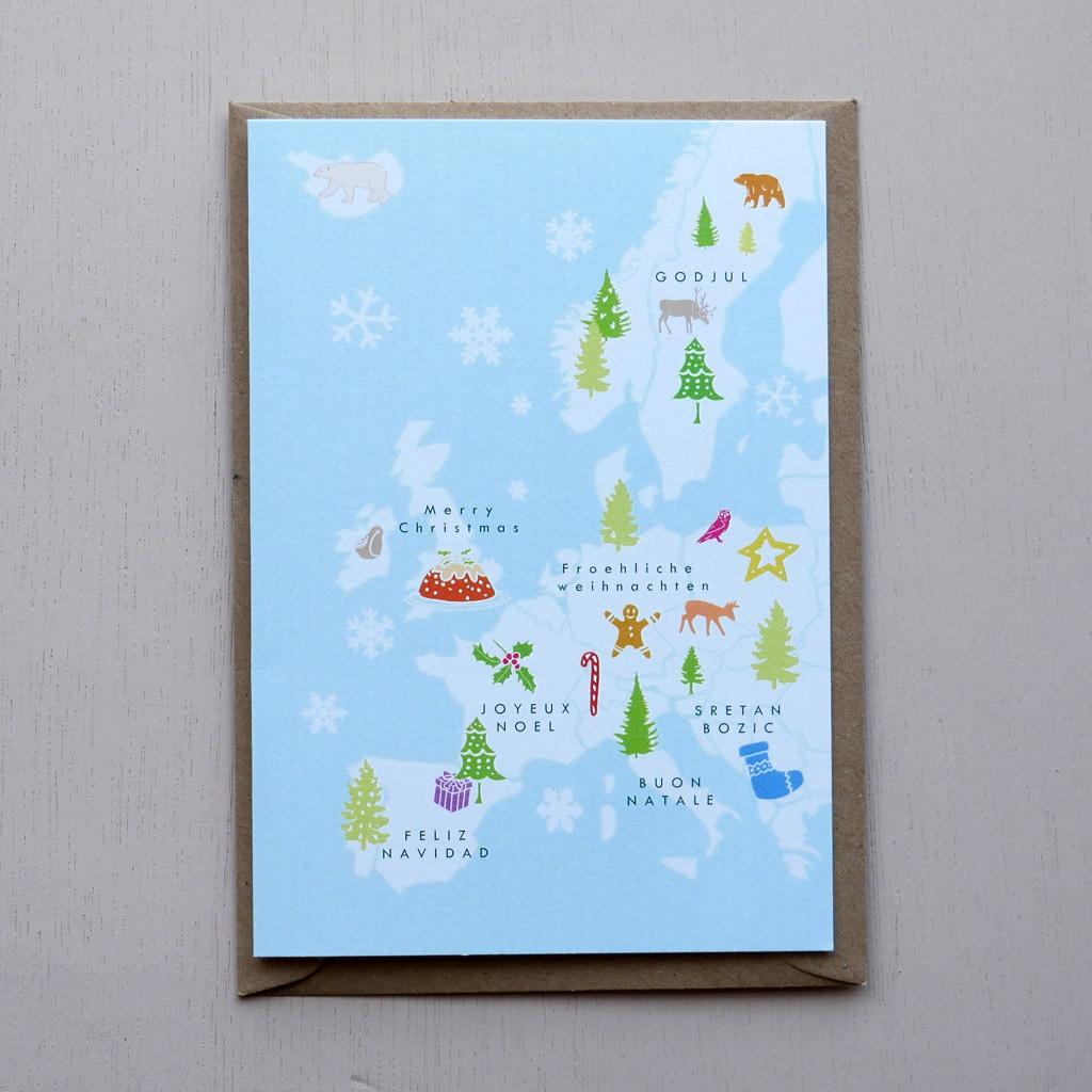Merry Christmas Europe Card