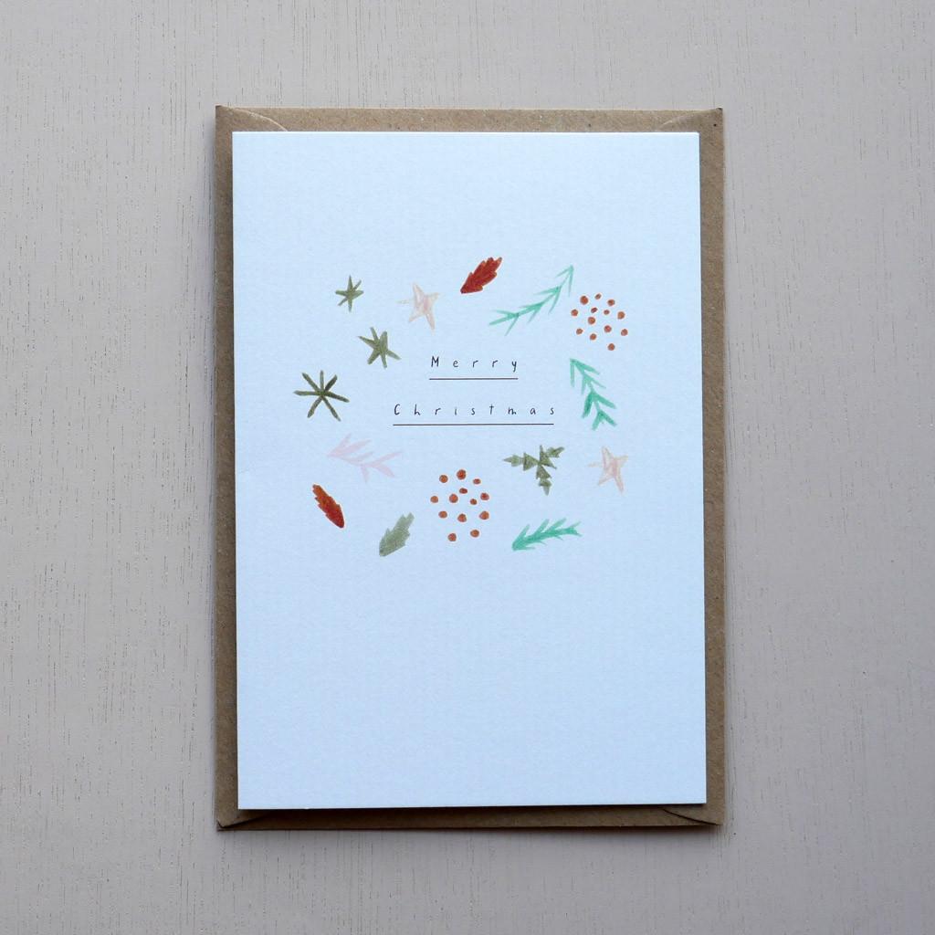 Merry Christmas Pine Card
