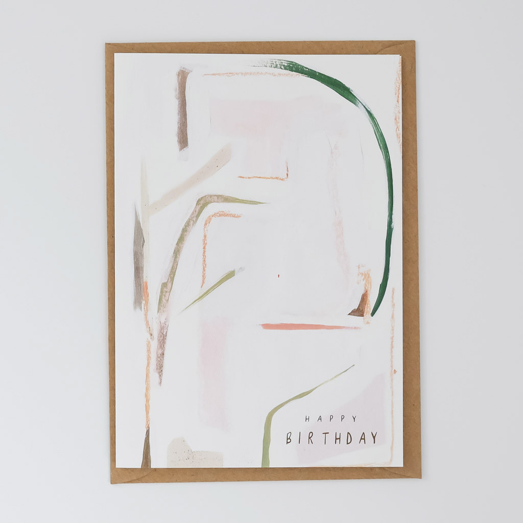 Happy Birthday Abstract Card