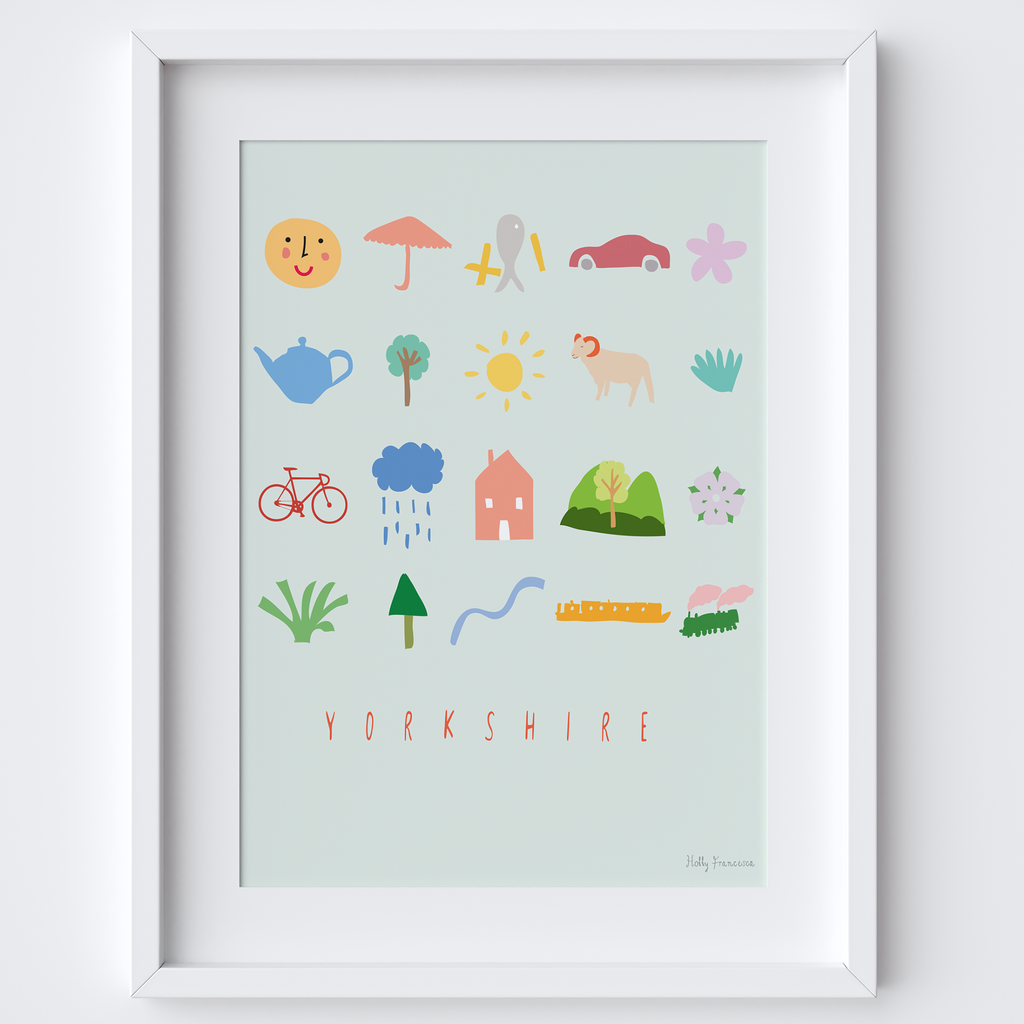 Yorkshire Icons Art Print