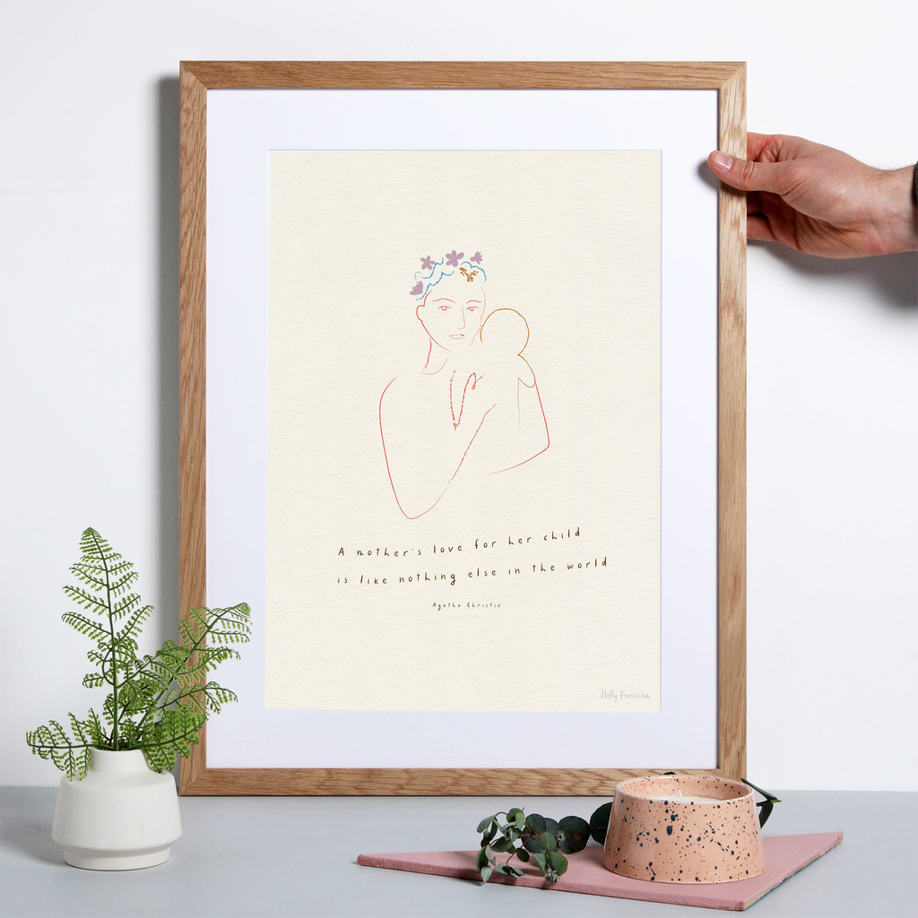 A Mother's Love Quote Art Print