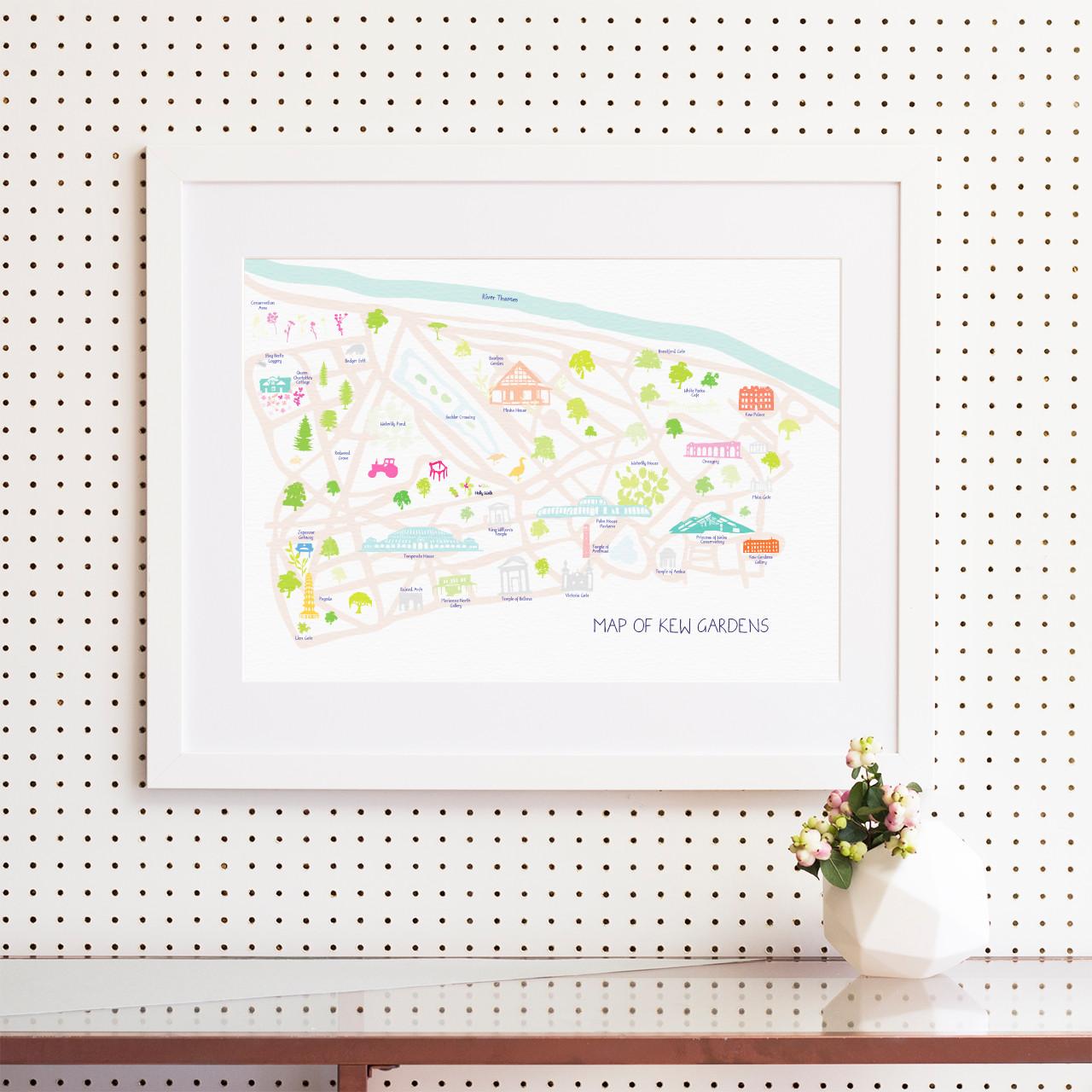 Map Of Kew Gardens Art Print Various Sizes Holly Francesca