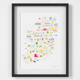 Map of Ireland Art Print (Various Sizes)