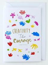 Henri Matisse Artist's Quote - Greeting Card