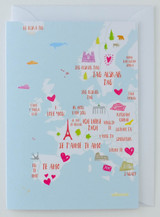 Love across Europe - Greeting Card