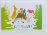 Woodland Animals Tea Party - Birthday Card