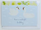 Swans - Birthday Card