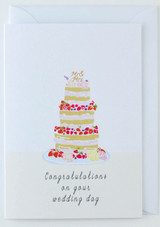 Congratulations on your Wedding Day Cake Card